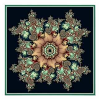 Mandala de Mandelbrot Poster