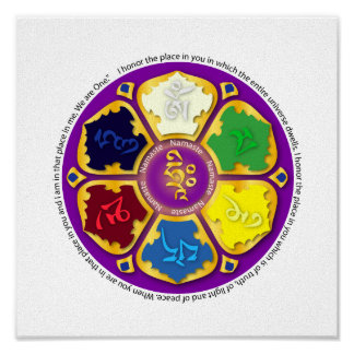 Mandala de Namaste - púrpura Poster