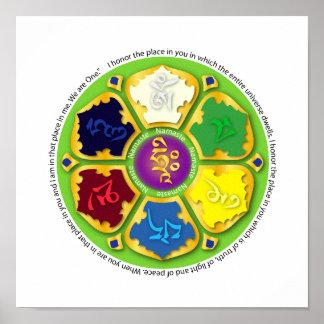 Mandala de Namaste - verde Posters