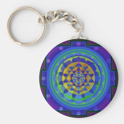 Mandala de OM (AUM) Yantra Llaveros