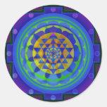 Mandala de OM (AUM) Yantra Pegatinas