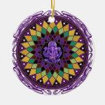 Mandala de OM Ganesh Adorno Navideño Redondo De Cerámica