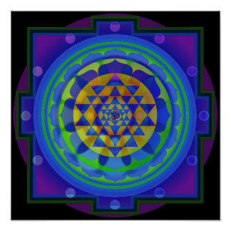 Mandala de OM Yantra Posters