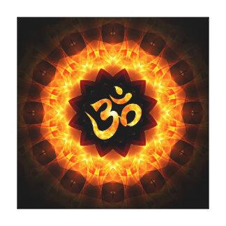 Mandala de oro con OM Impresiones En Lienzo Estiradas
