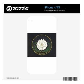 Mandala de oro de la flor iPhone 4S skins