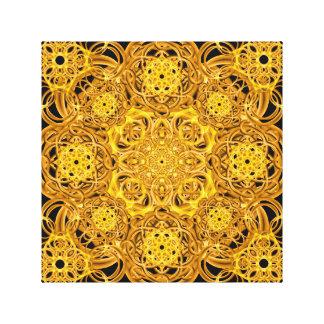 Mandala de oro de los remolinos impresion en lona