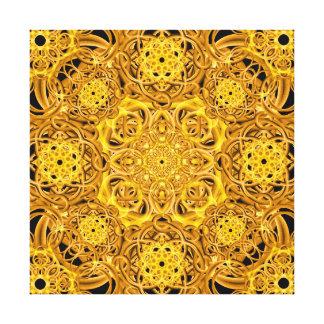 Mandala de oro de los remolinos impresiones en lienzo estiradas