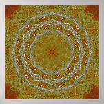 Mandala de oro del cordón posters
