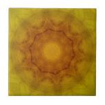 Mandala de oro teja cerámica