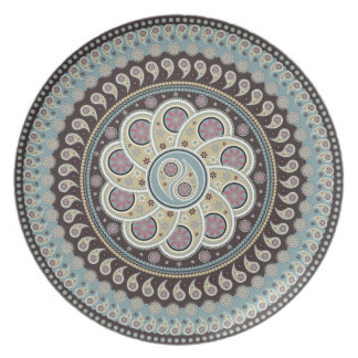 Mandala de Paisley Platos De Comidas