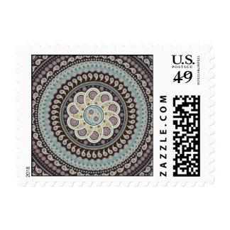 Mandala de Paisley Sellos Postales
