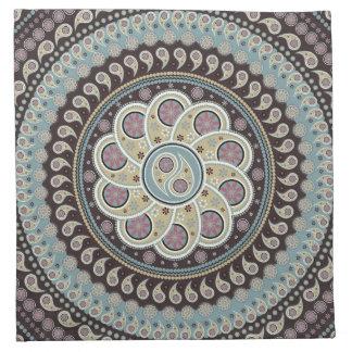 Mandala de Paisley Servilleta Imprimida