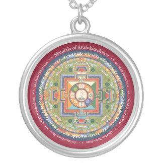 Mandala DE PLATA del COLLAR y del COLGANTE de Chen