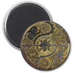 Mandala de símbolos africanos en imán del ~ del or