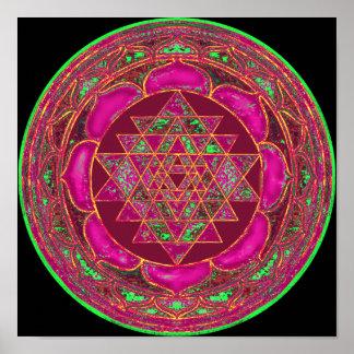 Mandala de Sri Lakshmi Yantra Póster