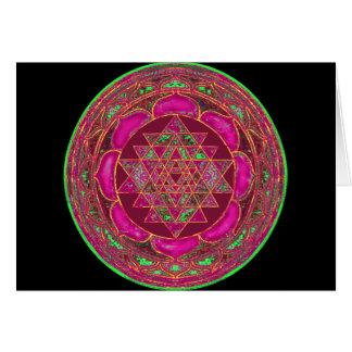 Mandala de Sri Lakshmi Yantra Tarjeta De Felicitación