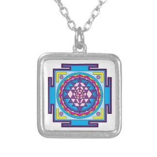 Mandala de Sri Yantra Colgante Cuadrado
