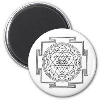 Mandala de Sri Yantra Imán De Nevera