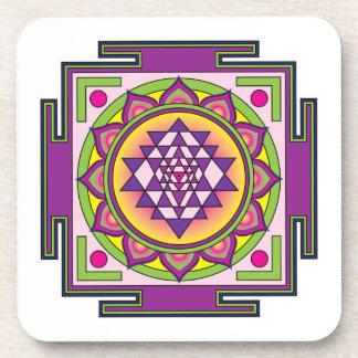 Mandala de Sri Yantra Posavasos De Bebidas