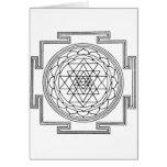 Mandala de Sri Yantra Tarjeta De Felicitación