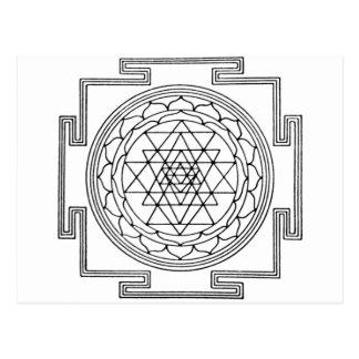 Mandala de Sri Yantra Tarjeta Postal