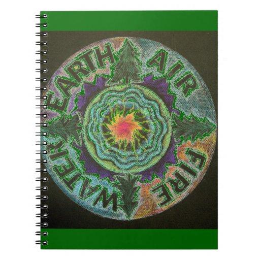 Mandala de Sun de cuatro elementos Cuadernos