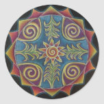 Mandala de Sun del verano Pegatina
