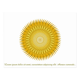 Mandala de Sun en amarillo Postal