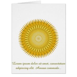 Mandala de Sun en amarillo Tarjeta De Felicitación Grande