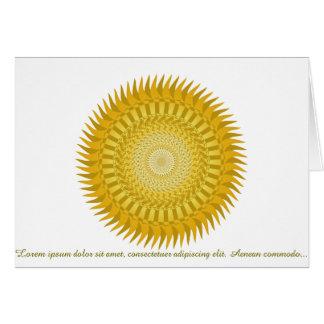 Mandala de Sun en amarillo Tarjeta Pequeña