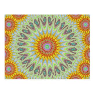 Mandala de Sun Tarjetas Postales