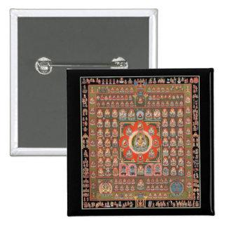 Mandala de Taizokai Pin Cuadrado