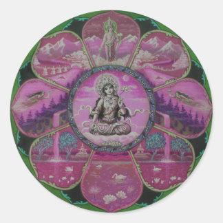 Mandala de Tara de la diosa Pegatina Redonda