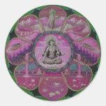 Mandala de Tara de la diosa Pegatinas Redondas