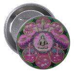Mandala de Tara de la diosa Pin Redondo De 3 Pulgadas