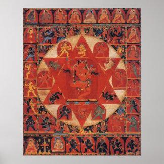 Mandala de Vajravarahi Póster