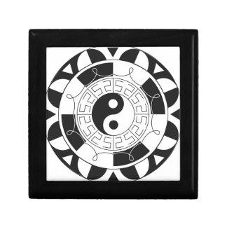 Mandala de Yin Yang Cajas De Recuerdo