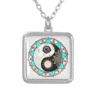 Mandala de Yin Yang Colgante Cuadrado