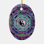 Mandala de Yin Yang en colores púrpuras Adorno