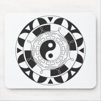 Mandala de Yin Yang Tapete De Ratón