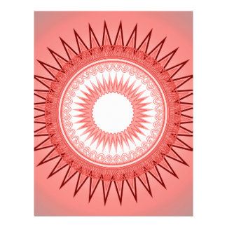 Mandala decorativa membrete a diseño