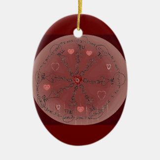 Mandala del 3:16 de Juan Ornamentos De Navidad