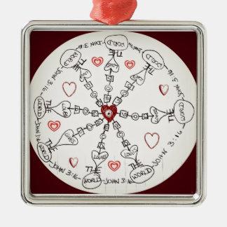 Mandala del 3:16 de Juan Ornaments Para Arbol De Navidad