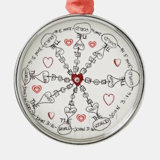 Mandala del 3:16 de Juan Ornamento De Reyes Magos