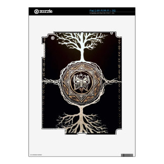 Mandala del árbol de la mariposa calcomanía para el iPad 2