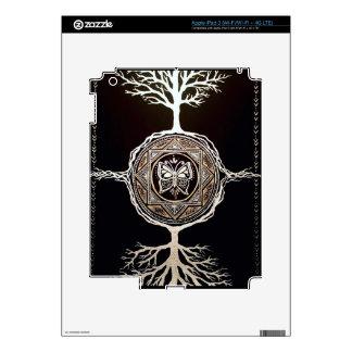 Mandala del árbol de la mariposa iPad 3 pegatinas skins