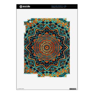 Mandala del azul y del oro skin para el iPad 2