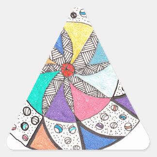 Mandala del balanceo calcomania triangulo personalizadas