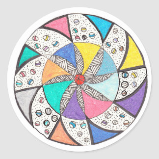Mandala del balanceo etiquetas redondas