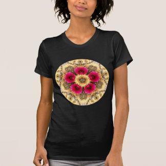 Mandala del cactus de barril remeras